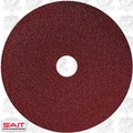 "Sait 50024 5"" x 7/8"" 80 Grit Resin Fiber Disc for Sanders and Grinders"