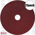 "Sait 50025 25pk 5"" x 7/8"" 100 Grit Resin Fiber Disc for Sanders and Grinders"
