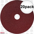"Sait 50032 20pk 7"" x 7/8"" 36 Grit Resin Fiber Disc for Sanders and Grinders"