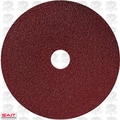 "Sait 50035 7"" x 7/8"" 80 Grit Resin Fiber Disc for Sanders and Grinders"