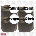 "Sait 57207 4pk 3"" x 21"" Sanding Belt Kit"