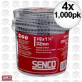 "Senco 06A125P 4x 1000pk #6 x 1-1/4"" Phillips Head Drywall Screws"