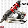 Senco 5N0001N 3pk 15 Gauge Fusion Finish Nailer
