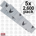 Senco A100759 5x 2600pk 23 Gauge Galvanized Micro Pin Nails