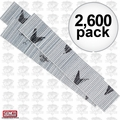 "Senco A101009 Box of 2,600 1"" 23 Gauge Galvanized Micro Pin Nails"