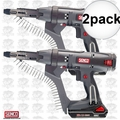 "Senco DS212-18V 2pk 18V 2500rpm 2"" DuraSpin Auto-feed Screwgun +2 Batt Chrgr"