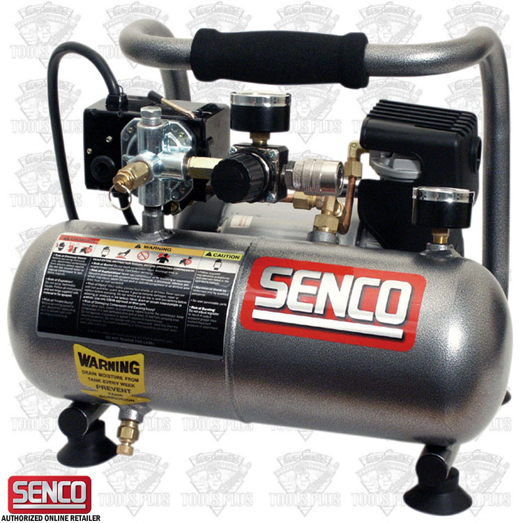 senco pc1010 1 gallon 1 2 hp electric mini compressor. Black Bedroom Furniture Sets. Home Design Ideas