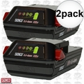 Senco VB0155 2pk 18V Li-ion Slim Pack Fusion Nailer Battery