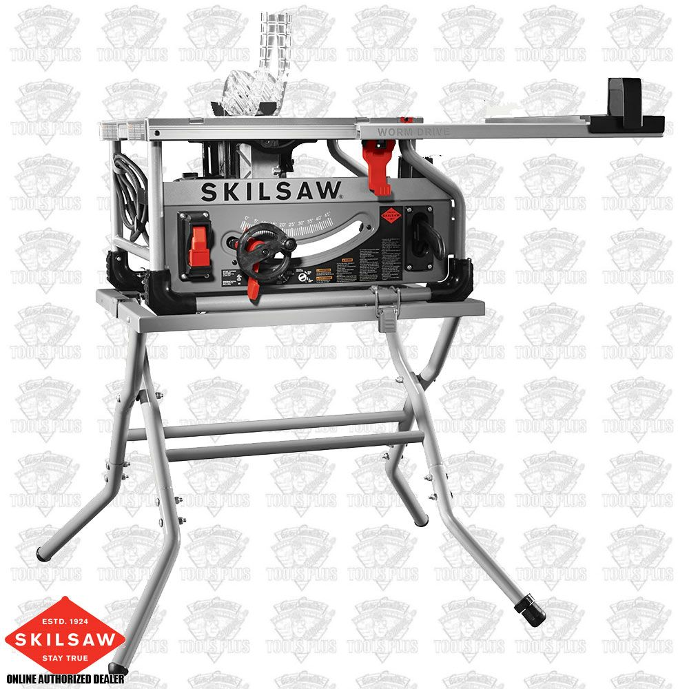 Skil spt70wt 22 10 worm drive table saw w diablo blade and stand greentooth Image collections