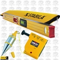 "Stabila 36548 48"" Electronic Level IP65 w/ Case + Tajima Plumb Bob"