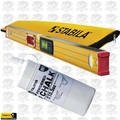 "Stabila 36548 48"" Electronic Level IP65 w/ Case + Tajima White Chalk"
