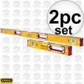 "Stabila 37816 16"" + 48"" Type 196 Series Box Level Combo Set"