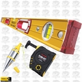 "Stabila 38648 48"" Magnetic Level with Tajima Plumb Bob"
