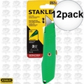 "Stanley 10-179 5-5/8"" High Visibility Retractable Utility Knife 12x"