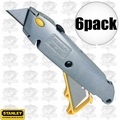 "Stanley 10-499 6pk 6"" Quick Change Retractable Utility Knife"