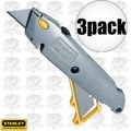 Stanley 10-499 3pk Quick Change Retractable Utility Knives