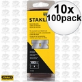 Stanley 11-515 100 Pack Single Edge Blades 10x
