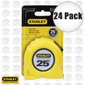 Stanley 30-454 24pk 25' Fractional Read Tape Measure