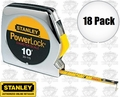 "Stanley 33-115 18pk 10' x 1/4"" PowerLock Pocket Tape Measure + Dia Scale"
