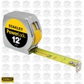 "Stanley 33-312 3/4"" x 12' PowerLock Tape Measure w/ Metal Case"
