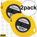 "Stanley 34-106 2pk 3/8"" x 100' Closed Long Tape Measure"
