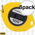 "Stanley 34-106 8pk 3/8"" x 100' Closed Long Tape Measure"