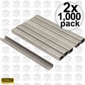 "Stanley TRA704SST 2x 1000 Pack 1/4"" Stainless Steel Narrow Crown Staples"