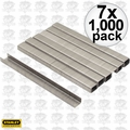 "Stanley TRA704SST 7x 1000pk 1/4"" Stainless Steel Narrow Crown Staples"