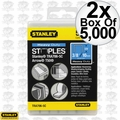 "Stanley TRA706-5C 2x 5000pk 3/8"" Heavy Duty Narrow Crown Staples"