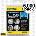 "Stanley TRA706-5C Box of 5000 3/8"" Heavy Duty Narrow Crown Staples"