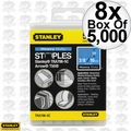 "Stanley TRA706-5C 8x Box of 5000 3/8"" Heavy Duty Narrow Crown Staples"