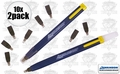 Swanson CP216 10pk Always Sharp Refillable Carpenters Pencils 'Flat Type'