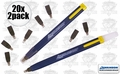 Swanson CP216 20pk Always Sharp Refillable Carpenters Pencils 'Flat Type'