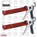 Tajima CNV-100SP 2pk Convoy Super Rotary Caulk Guns 1/10 Gallon