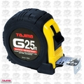 "Tajima G-25BW 1"" x 25' Shock Resistant Tape Measure"