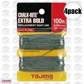 "Tajima PL-ITOL 4pk 100 ft .04"" Bold Braided Replacement Chalk Line"