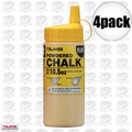 Tajima PLC2-Y300 4pk 10.5oz 300g Micro Powder Ultra Fine Line Chalk Yellow