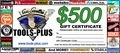 Tools Plus  $500 Gift Certificate