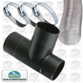 "Woodstock W1013 W1034 4"" Dust Collection Hose System - T-Connector Kit"