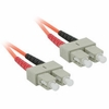 1M Multimode Sc/Sc Duplex Patch Cable - Orange