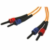 1M Multimode St/St Duplex Patch Cable - Orange