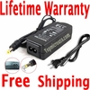 Acer TravelMate 2424NWXMi, 2424WXCi, 2424WXMi AC Adapter, Power Supply Cable