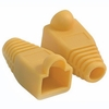 RJ45 Plug Cover - Od 5.5mm Yellow - 50 Pack