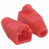 RJ45 Plug Cover - Od 6.0mm Red - 50 Pack