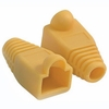 RJ45 Plug Cover - Od 6.0mm Yellow - 50 Pack
