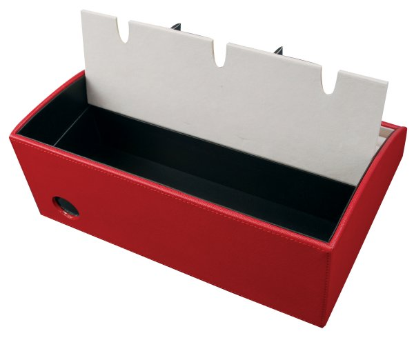 Amelia Faux Leather Electronic Charging Station In Red