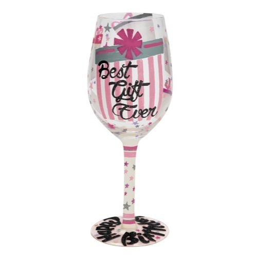 Best Gift Ever Wine Glass By Lolita Brand New For 2015