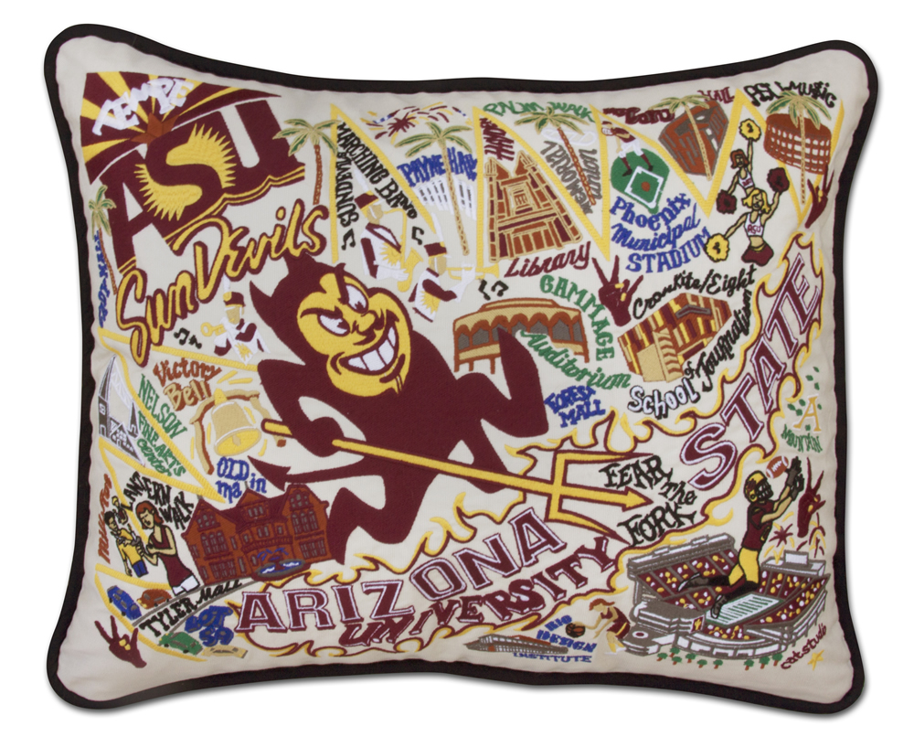 Embroidered State Throw Pillows : CatStudio Embroidered Arizona State University Pillow