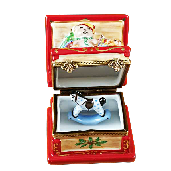 Christmas Toy Box : Christmas toy chest w rocking horse limoges box by rochard