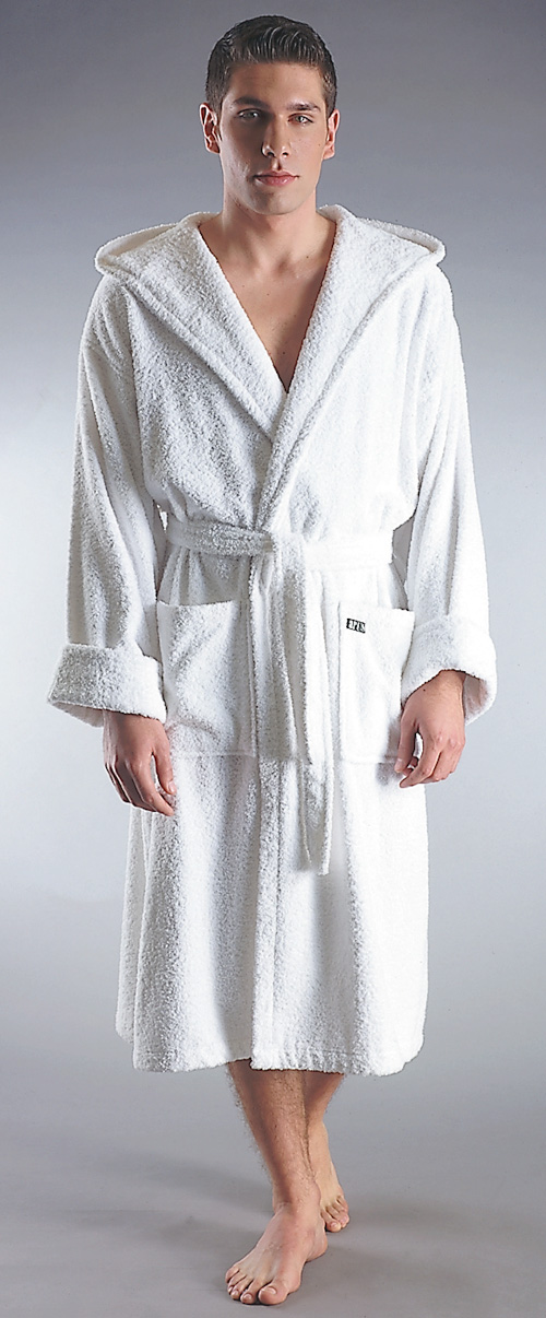 hooded turkish terrycloth bathrobe men 39 s. Black Bedroom Furniture Sets. Home Design Ideas